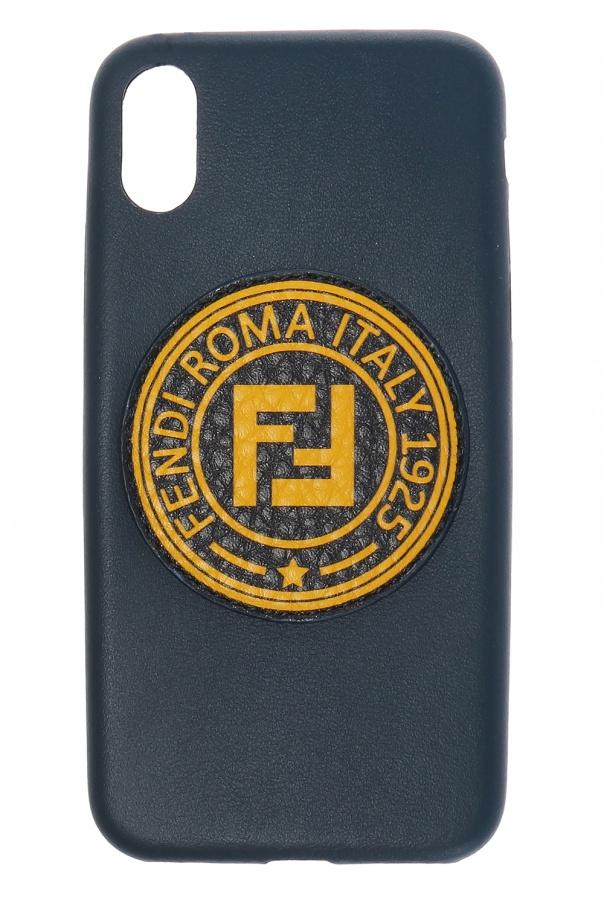 timeless design 55f4f ca940 Leather iPhone X case with logo Fendi - Vitkac shop online