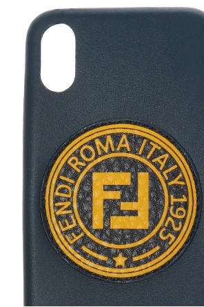 Leather iphone x case with logo od Fendi
