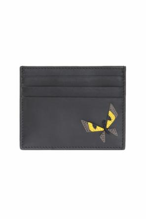 Eye motif card case od Fendi