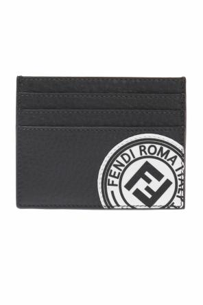 Card case with a sewn on application od Fendi