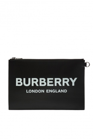 Logo-printed clutch od Burberry