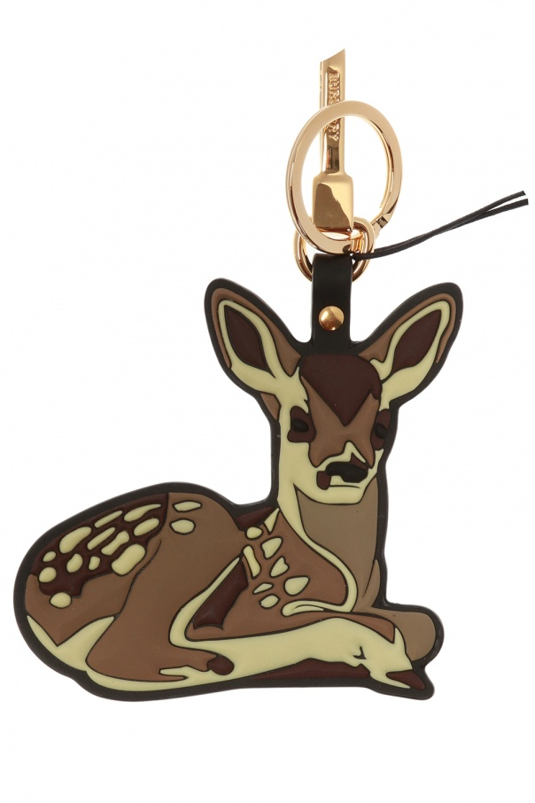 Burberry Deer charm keyring