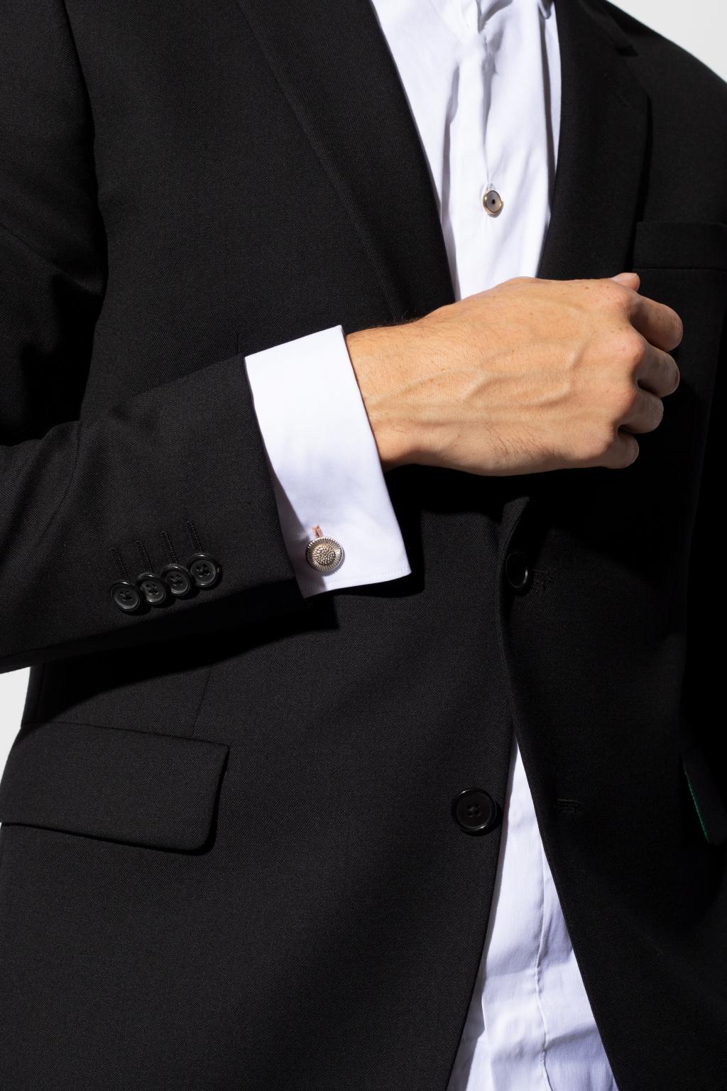 Lanvin Round cufflinks