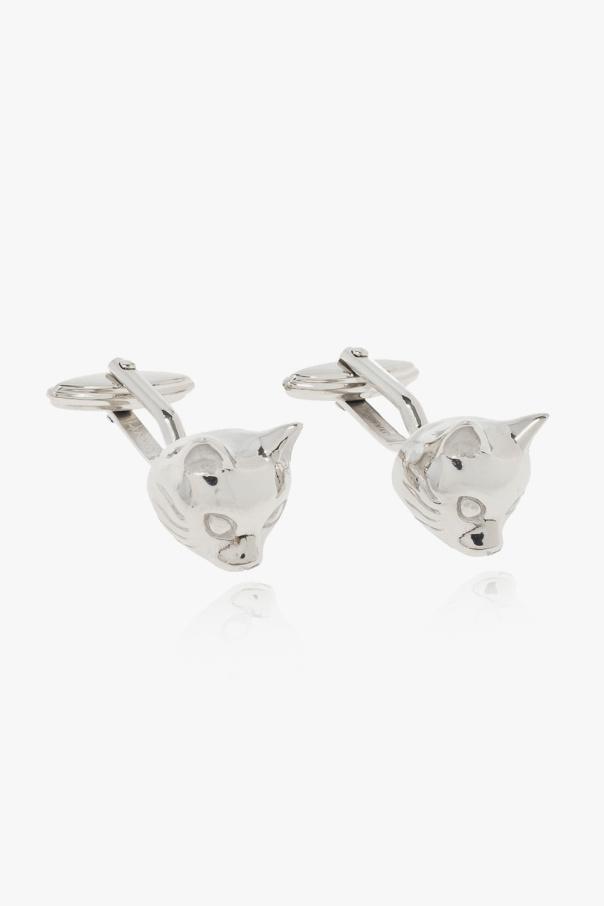 Lanvin Cufflinks with cat motif