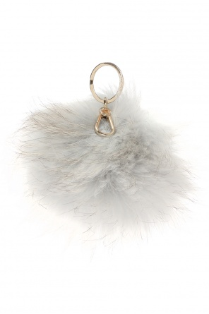 Polar fox fur key ring od Furla