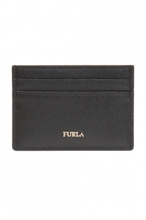 Card case with a metal logo od Furla
