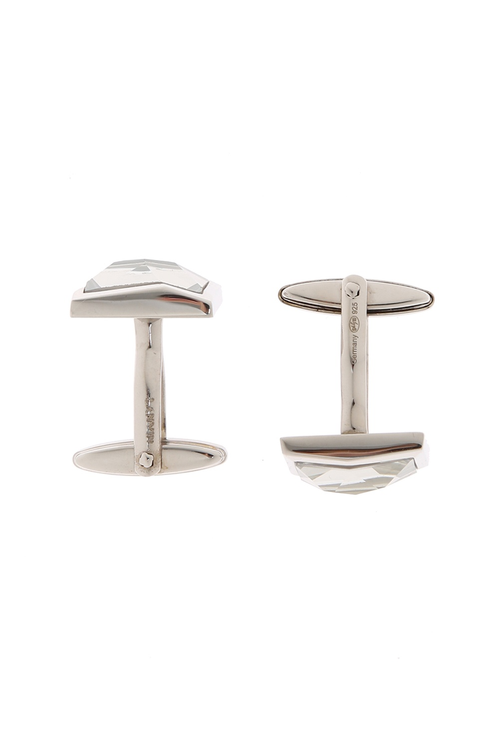 Lanvin Silver cuff links with stone