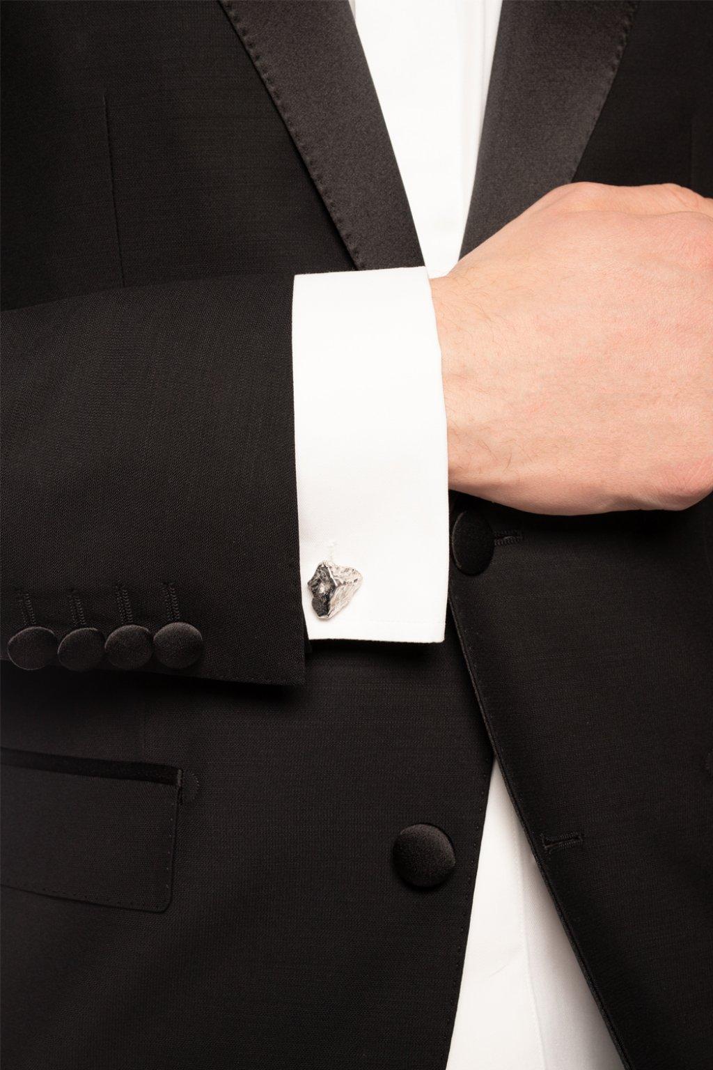 Lanvin Textured cuff links