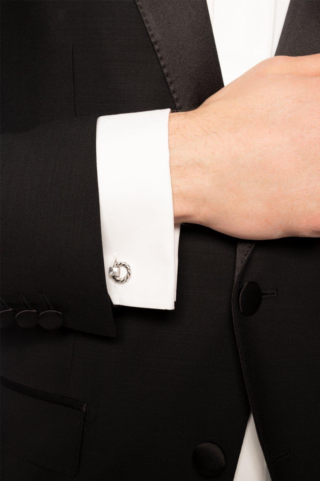 Lanvin Embossed cuff links