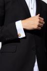 Lanvin Round cufflinks with logo