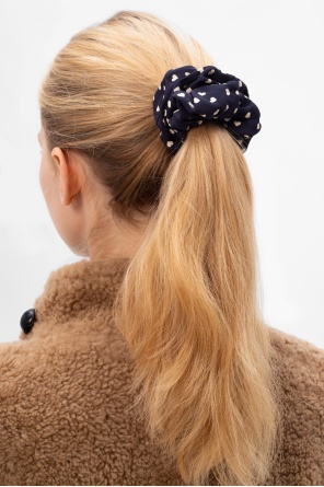 Heart-printed scrunchie od Ganni