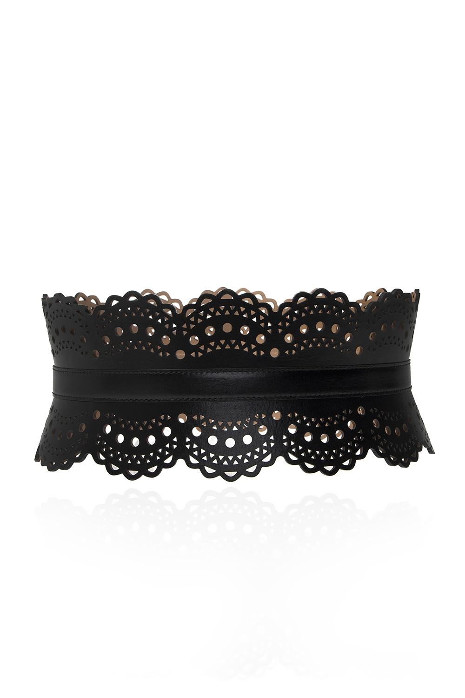 Alaia Waist belt with laser-cut detail