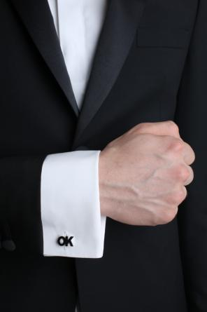 'ok' cuff links od Paul Smith