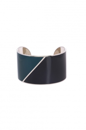 Brass bracelet with geometric pattern od Lanvin