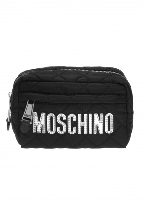 Quilted wash bag with logo od Moschino