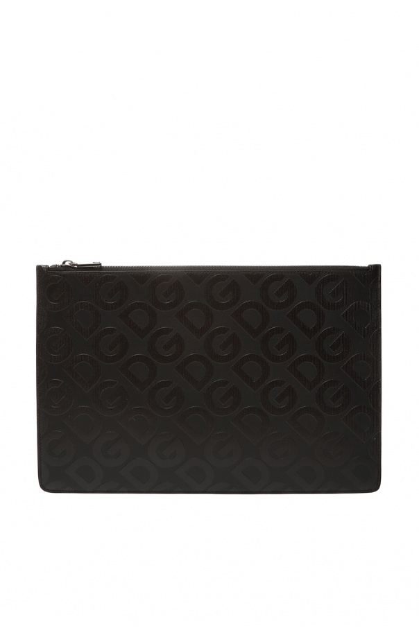 Dolce & Gabbana Leather clutch with logo