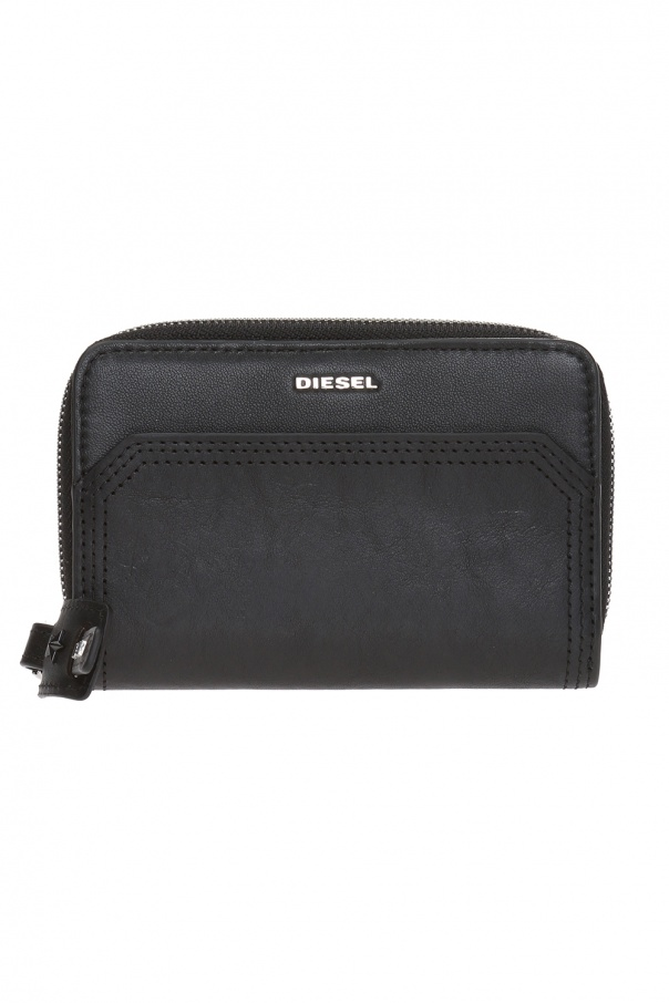 Diesel 'Carly' card case with metal logo