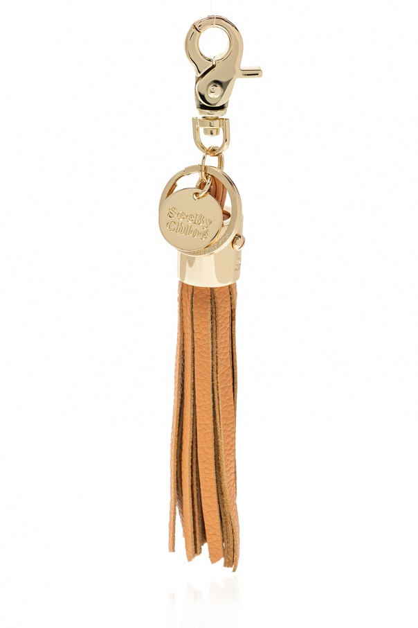 See By Chloe Keyring with logo