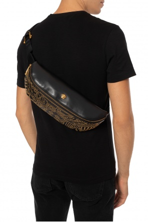 Branded studded belt bag od Versace