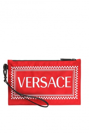 Logo-printed pouch od Versace