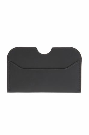 'elmas s' logo-embossed card case od Acne