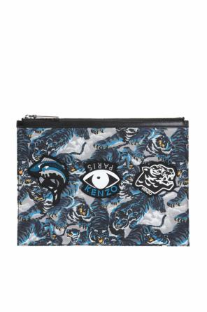 Patterned clutch with patches od Kenzo