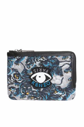 Patterned clutch with logo od Kenzo