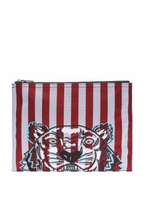 Embroidered tiger head clutch od Kenzo