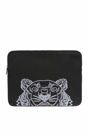 Embroidered tiger head laptop case od Kenzo