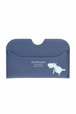 Logo-embossed card case od Acne