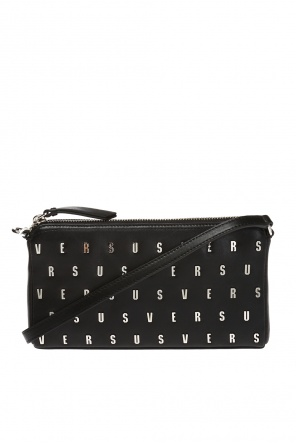 Shoulder bag with a metal logo od Versace Versus