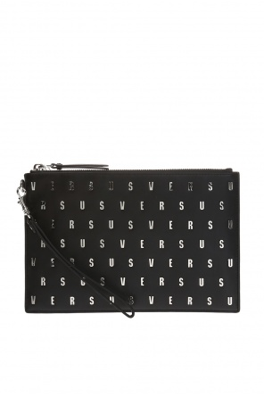 Clutch bag with a metal logo od Versace Versus