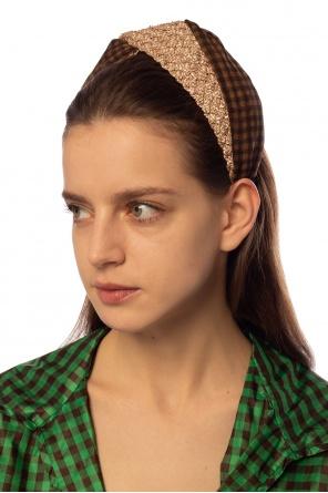 Patterned headband od Fendi