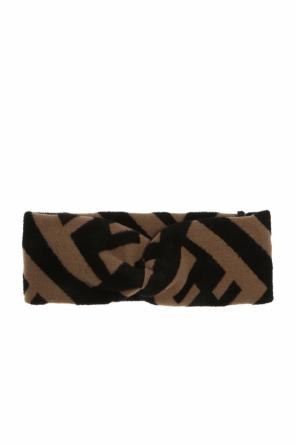 Headband with an embroidered logo od Fendi