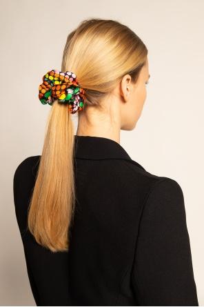 Wzorzysta gumka do włosów od Versace