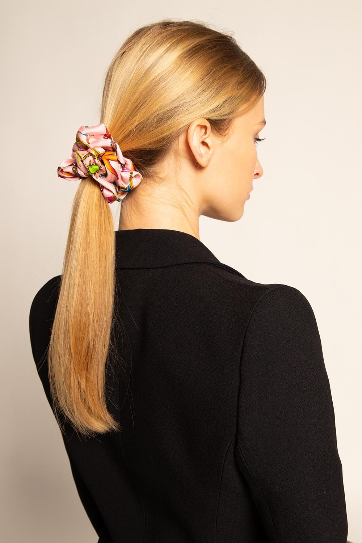 Versace Wzorzysta gumka do włosów