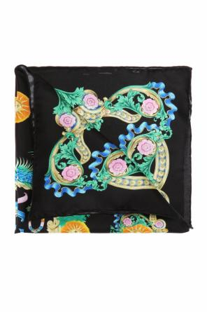 Patterned silk neckerchief od Versace