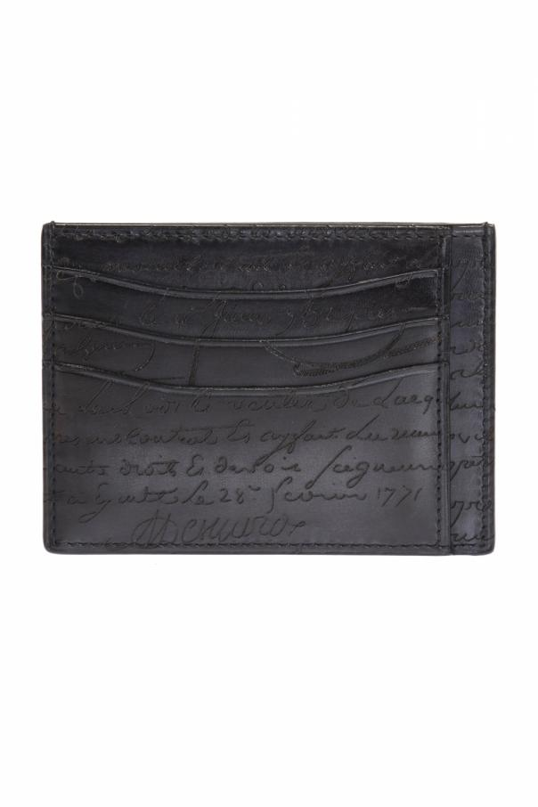 Berluti Bambou Tetris Leather Card Holder