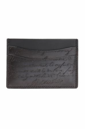 Embossed lettering card case od Berluti