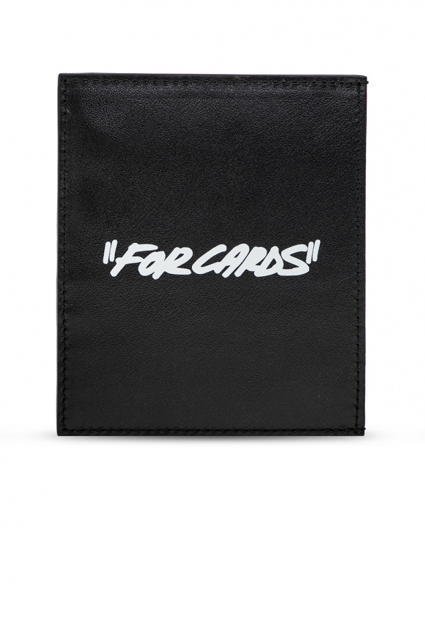 Off-White Card holder with logo