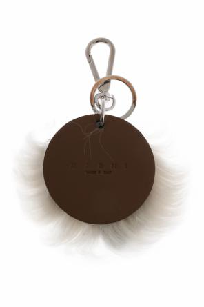 Key ring with fur trimming od Marni