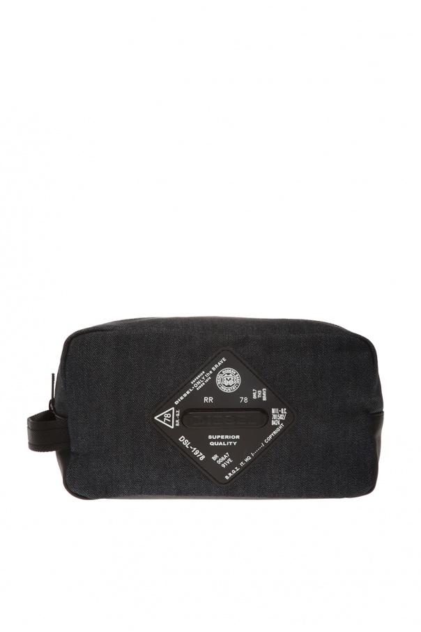 Diesel Logo-appliquéd wash bag