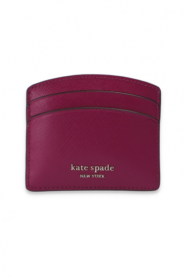 Kate Spade 'Spencer' card case with logo