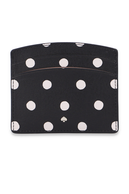 Kate Spade Card holder with polka dot print