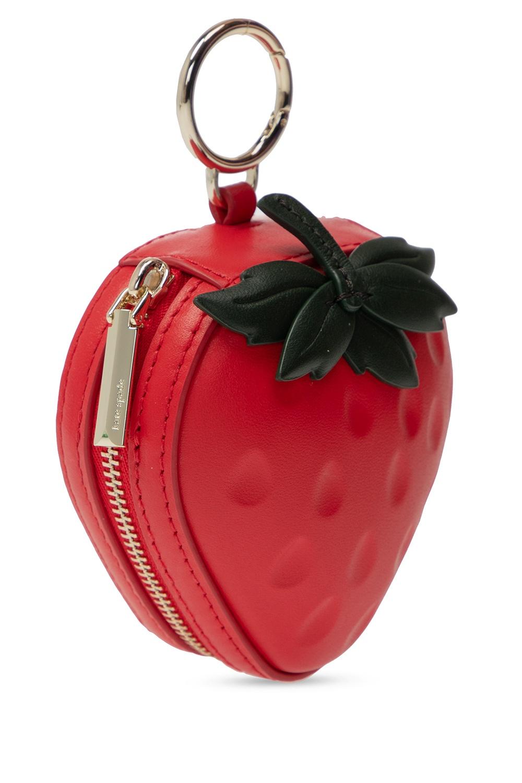 Kate Spade Strawberry coin purse keyring