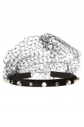 Velvet head band with tulle od Valentino Red
