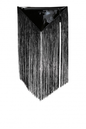 Triangular clutch bag with fringes od MM6 Maison Margiela