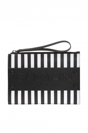 Striped clutch od Balmain