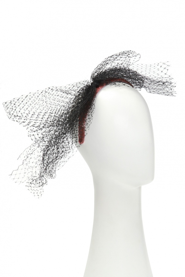 Tulle-trimmed headband od Red Valentino