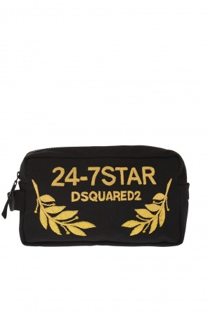 Logo-appliqued wash bag od Dsquared2